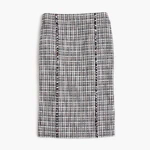 J Crew Tweed Pencil Skirt Size 16 Tall